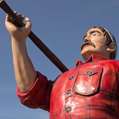 Lumberjacks Mascot Statue