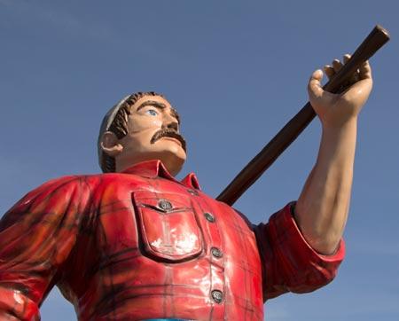 The Lumberjack Statue